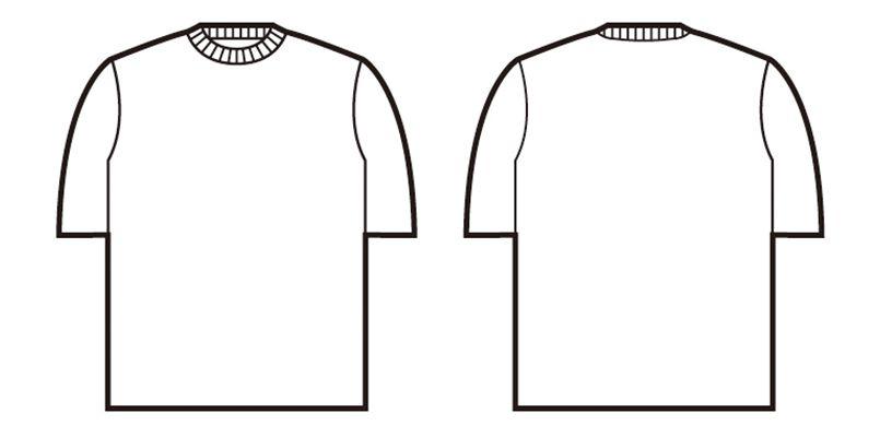 47624 自重堂 吸汗速乾半袖Tシャツ(胸ポケット無し) ハンガーイラスト・線画