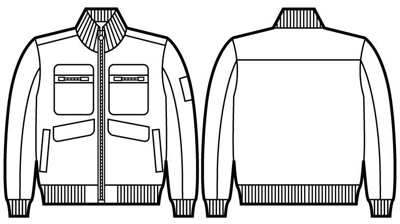 58120 自重堂JAWIN 防寒ブルゾン ハンガーイラスト・線画