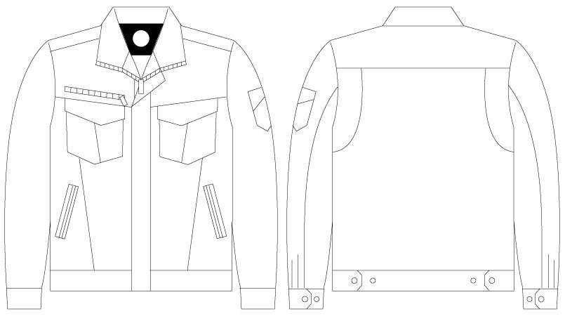 自重堂 75000 [春夏用]Z-DRAGON ストレッチ長袖ジャンパー ハンガーイラスト・線画