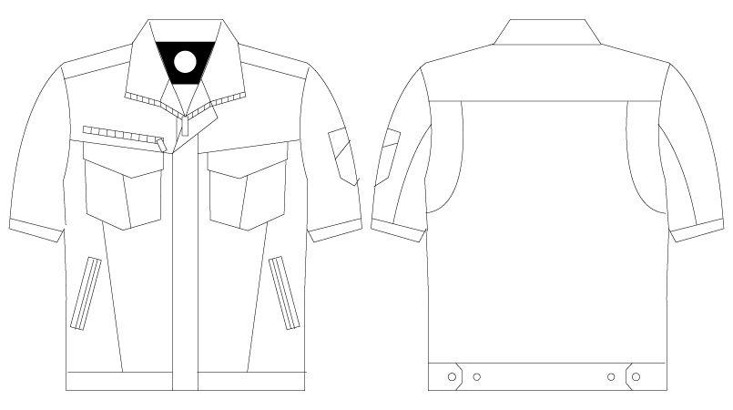 75010 自重堂Z-DRAGON [春夏用]ストレッチ半袖ジャンパー ハンガーイラスト・線画