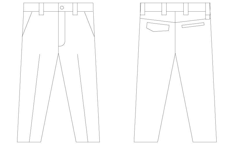 75201 自重堂Z-DRAGON [春夏用]ノータックパンツ(男性用) ハンガーイラスト・線画