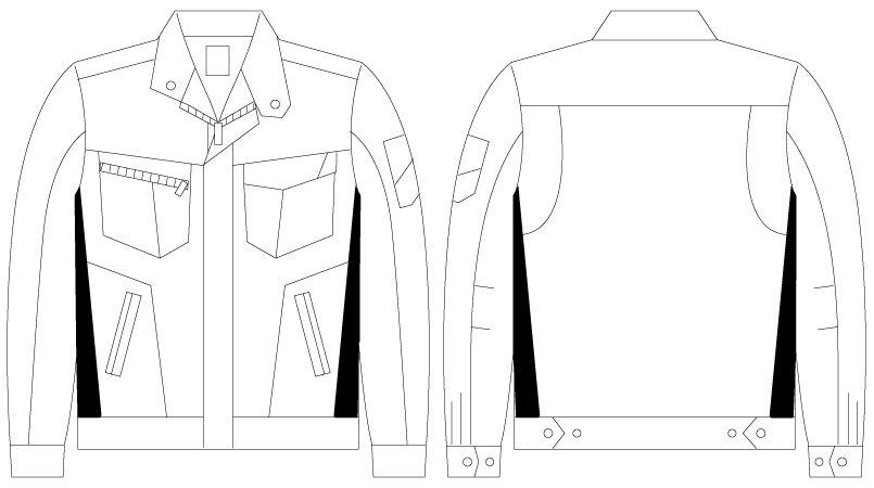 自重堂 75500 [春夏用]Z-DRAGON 製品制電長袖ジャンパー ハンガーイラスト・線画