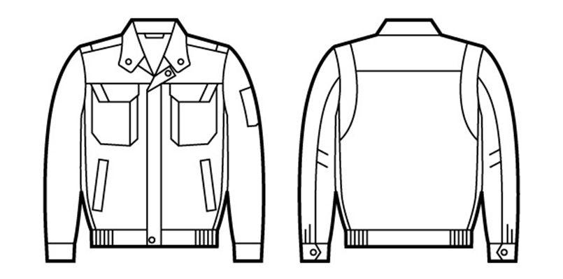自重堂 82400 ブレバノプラスツイル難燃ブルゾン ハンガーイラスト・線画