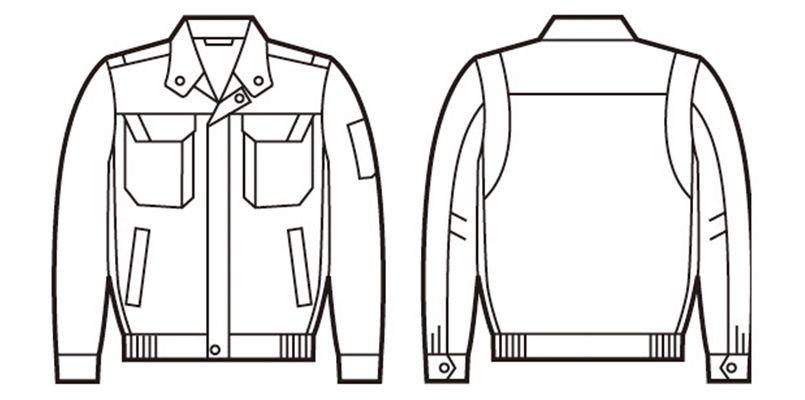自重堂 86400 [春夏用]難燃長袖ブルゾン ハンガーイラスト・線画