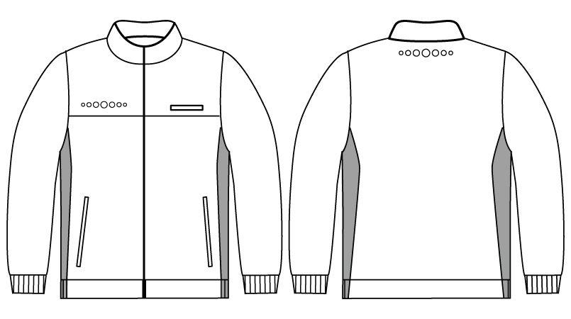 WH90245 自重堂WHISELハーフジャケット(男女兼用) ハンガーイラスト・線画