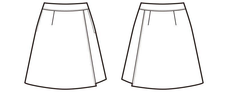 en joie(アンジョア) 71415 [通年]ラップキュロット 無地 ハンガーイラスト・線画