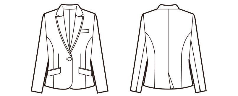 en joie(アンジョア) 81510 [通年]高級感×動きやすさを両立させたニットジャケット 無地 ハンガーイラスト・線画