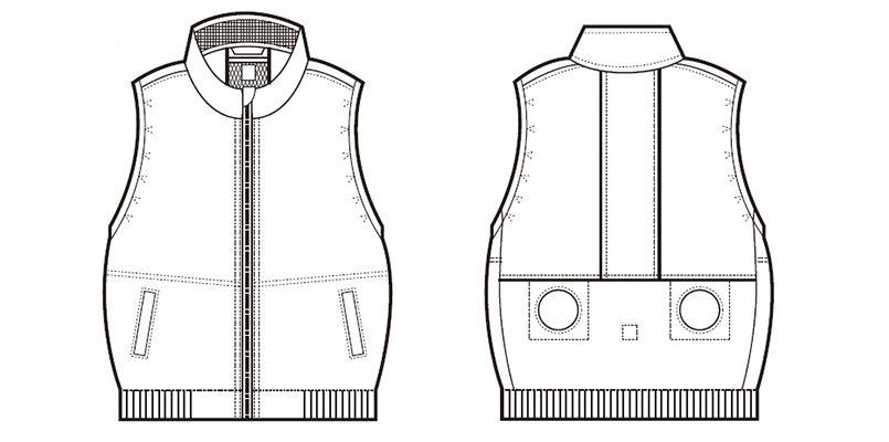 26861SET クロダルマ エアーセンサー ベスト ハンガーイラスト・線画