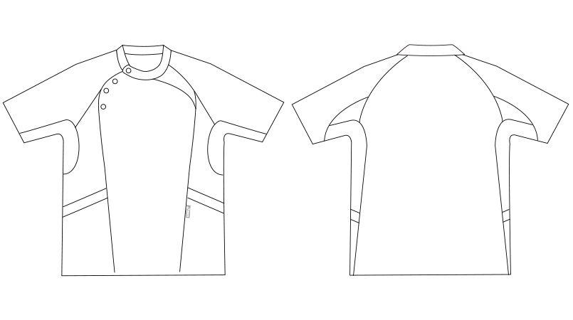 LKM501-0100 0105 0145 アシックス(asics) 半袖ケーシージャケット(男性用) ハンガーイラスト・線画