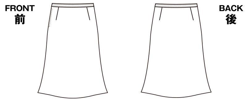 S-16541 16549 [秋冬用]パトリックコックス Aラインスカート ブラインドチェック ハンガーイラスト・線画